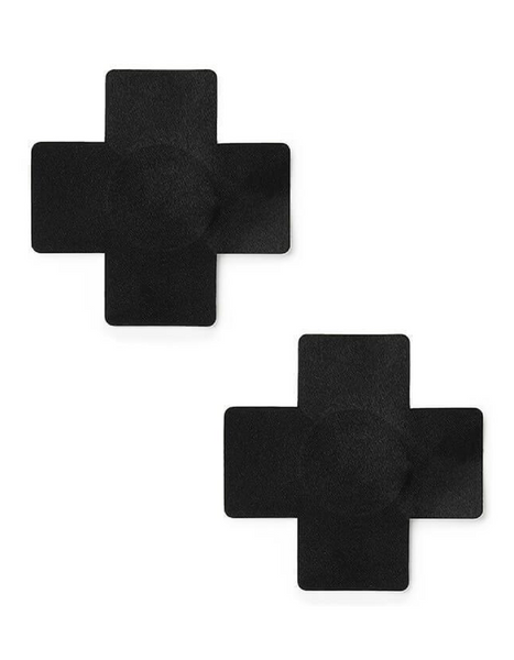 Black Cross Nipple Covers - 3 pairs