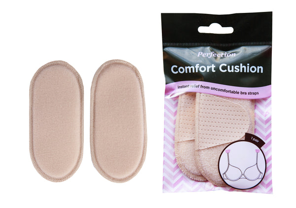 Perfection Comfort Cushions help provide immediate relief to tugging of uncomfortable bra straps on shoulders