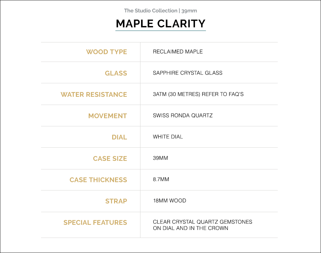 Revival by Martin and co Maple Clarity