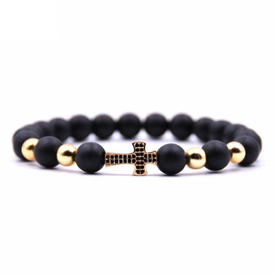 Jeweled Cross Bracelet