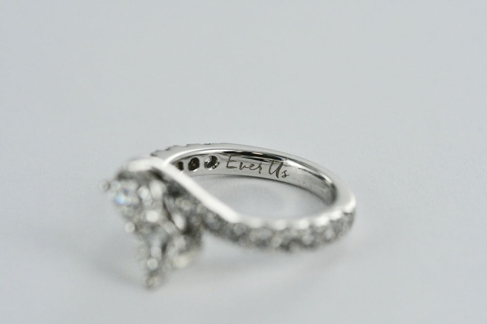 "14K Ladies White Gold ""For Ever Us"" Diamond Ring 2.40TCW"