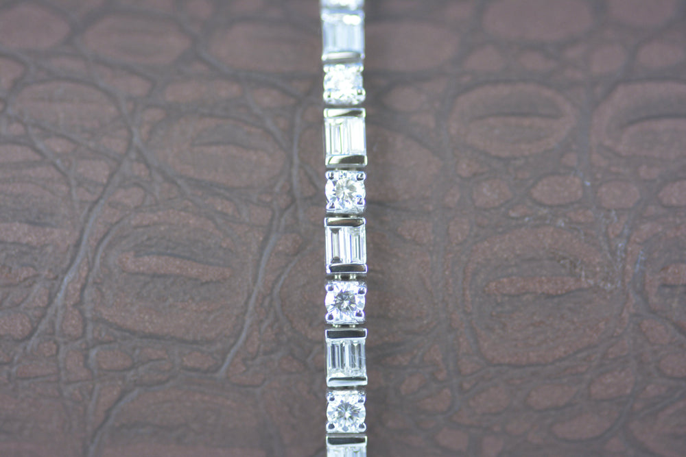 18K White Gold 5.70TW Diamond Bracelet