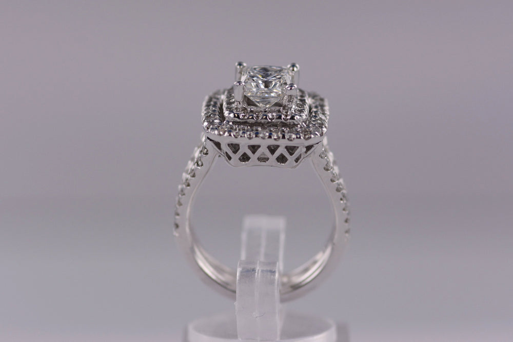 Ladies Diamond Engagement Ring 1.53 Princess Cut