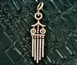 18K Rose Gold and Diamond Dangle Pendant 2.50 TCW