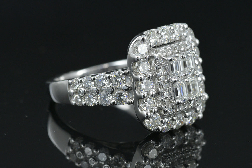 14K Ladies Diamond Cocktail ring 3.25 carats in Diamonds