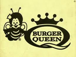 Burger Queen logo with Queenie Bee