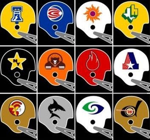 World Football League 1974 helmets