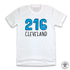 Cleveland 216 Area Code - Old School Shirts- Retro Sports T Shirts