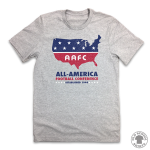 All-America Football Conference - Old School Shirts- Retro Sports T Shirts