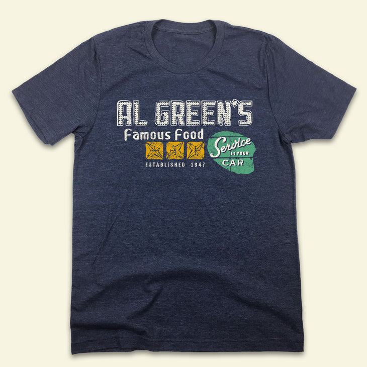 Al Green's Famous Drive-In Restaurant - Old School Shirts- Retro Sports T Shirts