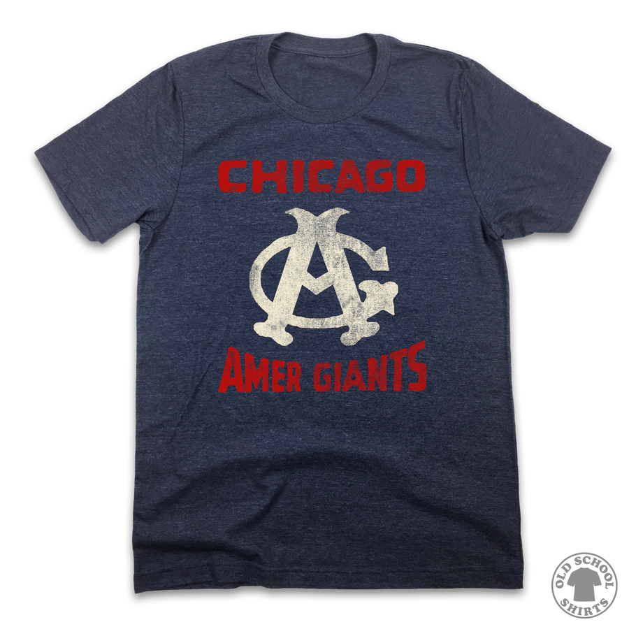 Chicago Amer Giants - Old School Shirts- Retro Sports T Shirts