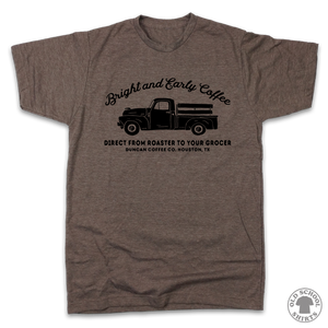 Bright and Early Coffee - Old School Shirts- Retro Sports T Shirts