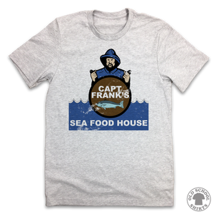 Captain Frank's Sea Food House - Old School Shirts- Retro Sports T Shirts