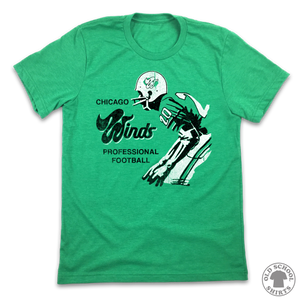 Chicago Winds Football - Old School Shirts- Retro Sports T Shirts