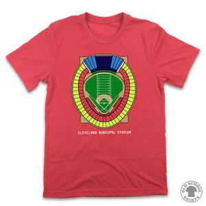 Cleveland Municipal Stadium Seating Chart - Old School Shirts- Retro Sports T Shirts