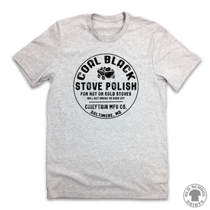 Coal Black Stove Polish - Old School Shirts- Retro Sports T Shirts