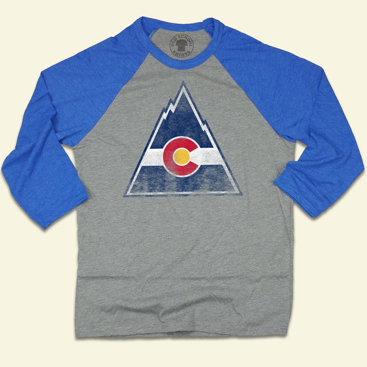 Colorado Rockies Hockey Raglan Blue Denver