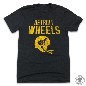 Detroit Wheels - Old School Shirts- Retro Sports T Shirts