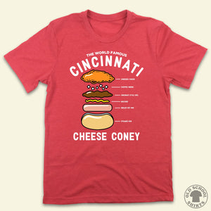 Anatomy of a Cincinnati Cheese Coney - Old School Shirts- Retro Sports T Shirts