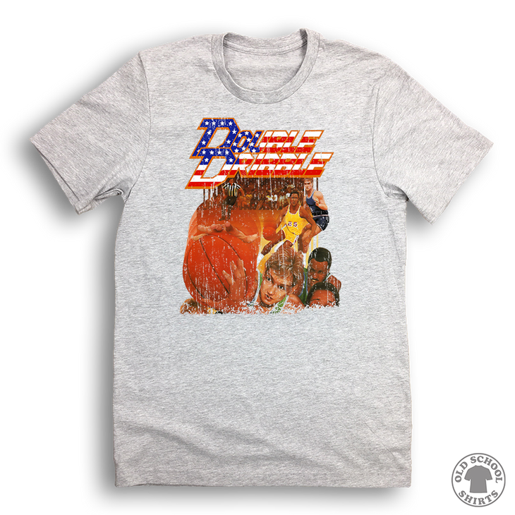 Double Dribble - Old School Shirts- Retro Sports T Shirts