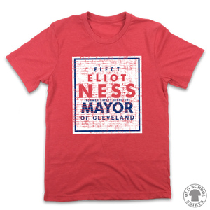 Eliot Ness for Mayor - Old School Shirts- Retro Sports T Shirts