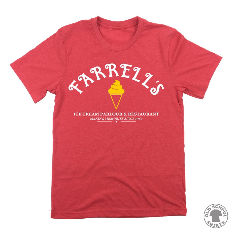 Farrell's Ice Cream Parlour - Ice Cream Cone Logo - Old School Shirts- Retro Sports T Shirts