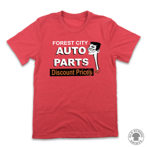 Forest City Auto Parts - Old School Shirts- Retro Sports T Shirts