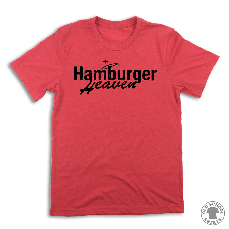 Hamburger Heaven - Old School Shirts- Retro Sports T Shirts