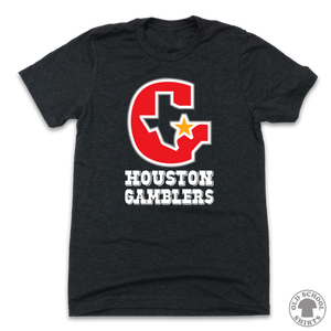 Houston Gamblers - Old School Shirts- Retro Sports T Shirts
