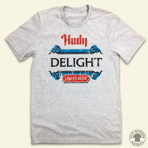 Hudy Delight - Light Beer - Old School Shirts- Retro Sports T Shirts