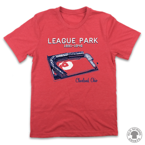 Cleveland League Park - Old School Shirts- Retro Sports T Shirts