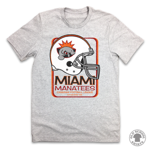 Miami Manatees Football - Old School Shirts- Retro Sports T Shirts