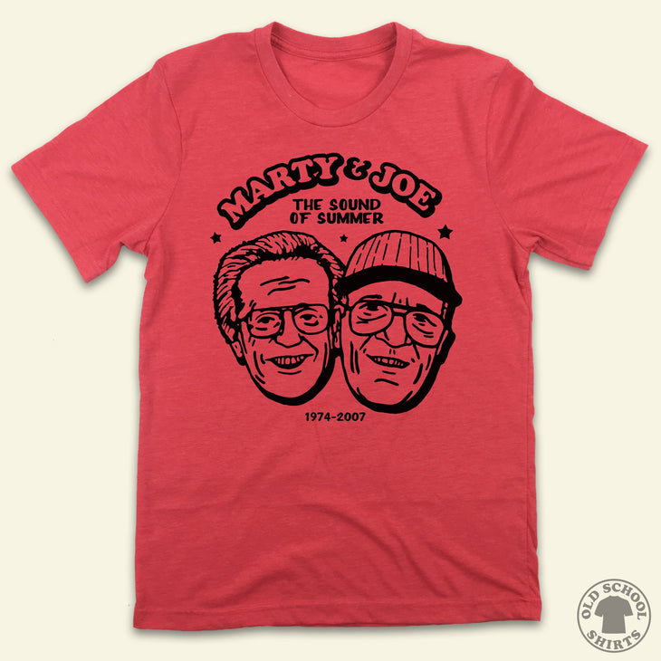"Marty & Joe ""The Sound of Summer"" - Old School Shirts- Retro Sports T Shirts"