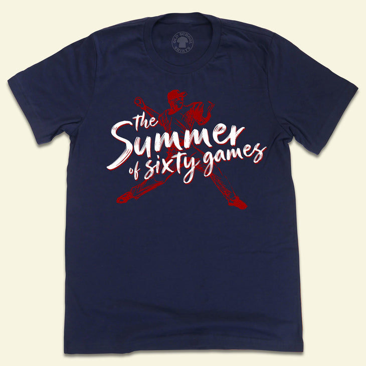 The Summer of Sixty Games - Navy T-shirt Cleveland