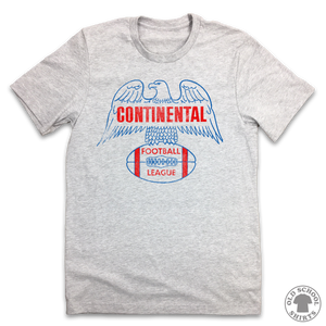 Continental Football League - Old School Shirts- Retro Sports T Shirts