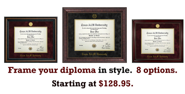 Aggie Grads - Diploma Frame Deal!