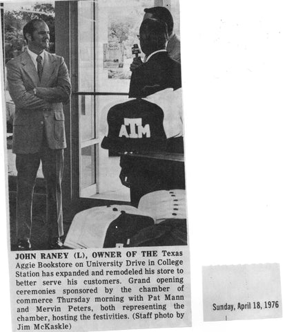 John Raney Texas Aggie Bookstore Owner 1976