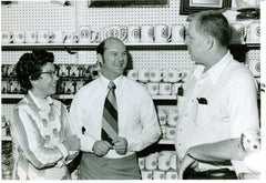 John Raney with University Bookstore owners