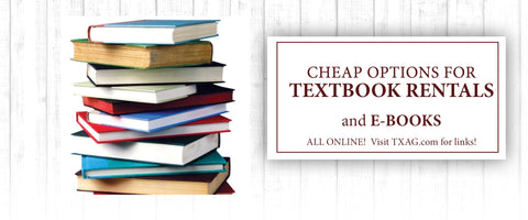 Textbook Rentals and E-Books
