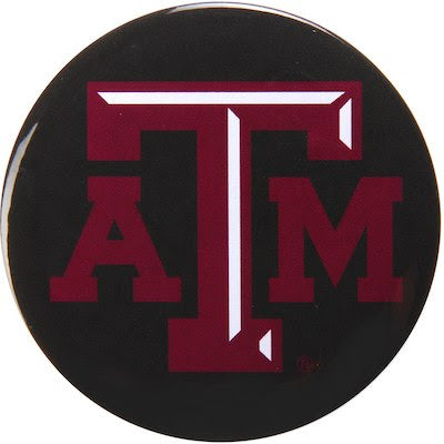 "Texas A&M Aggies 3"" Metal Team Mascot Button - TXAG Store"