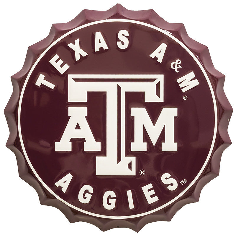 Texas A&M Bottle Top Sign