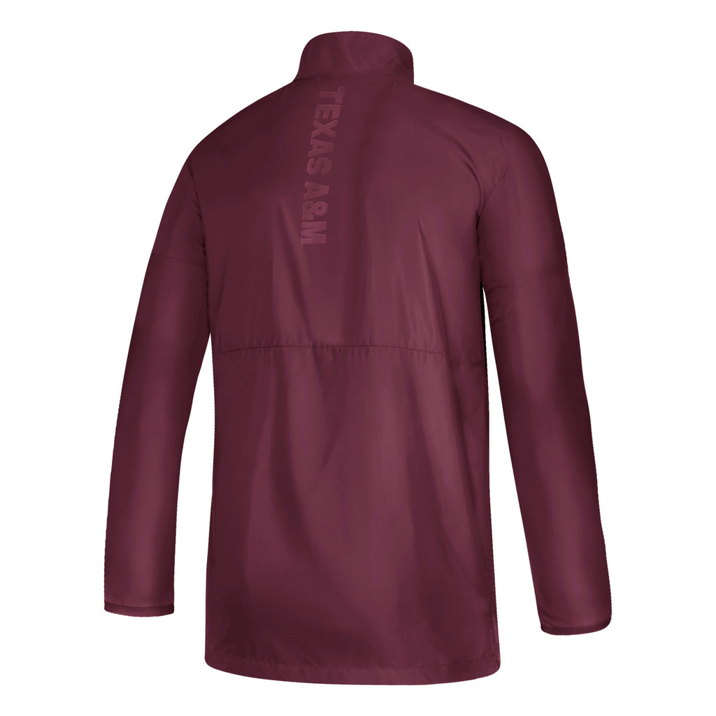 Game Mode Long Sleeved Woven 1/4 Zip - Maroon