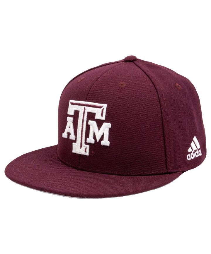 Texas A&M On-Field Custom Fitted Cap - Block ATM - TXAG Store