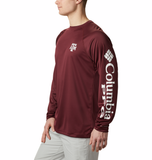 Columbia Maroon ATM Terminal Tackle Long Sleeved Tee
