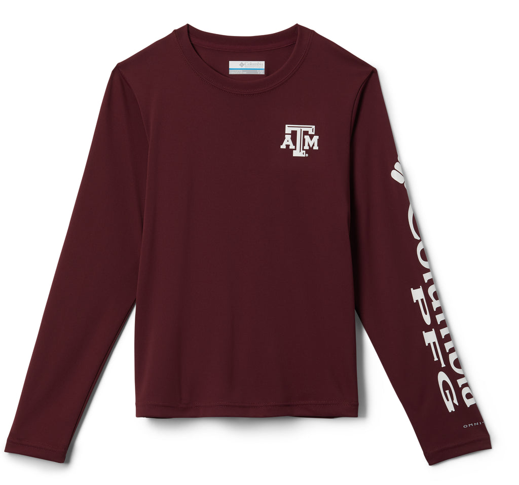 Texas A&M Youth Columbia Terminal Tackle Shirt