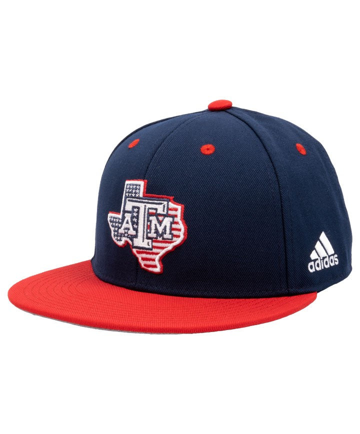 Texas A&M On-Field Custom Fitted Cap - Stars & Stripes - TXAG Store
