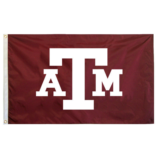 4X6 Double Sided Appliqued Flag (Maroon) - TXAG Store