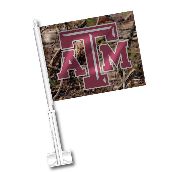 Texas A&M Camo car flag