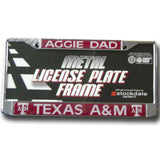 Aggie Dad License Plate Frame
