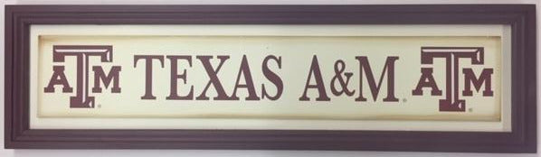 Texas A&M Long Sign (choose from 3 designs) - TXAG Store